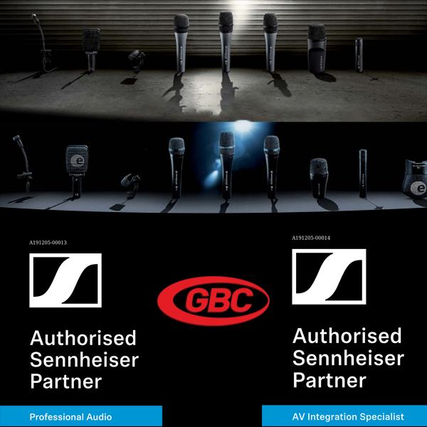 GBC partener autorizat Sennheiser cu drepturi de distributie selectiva