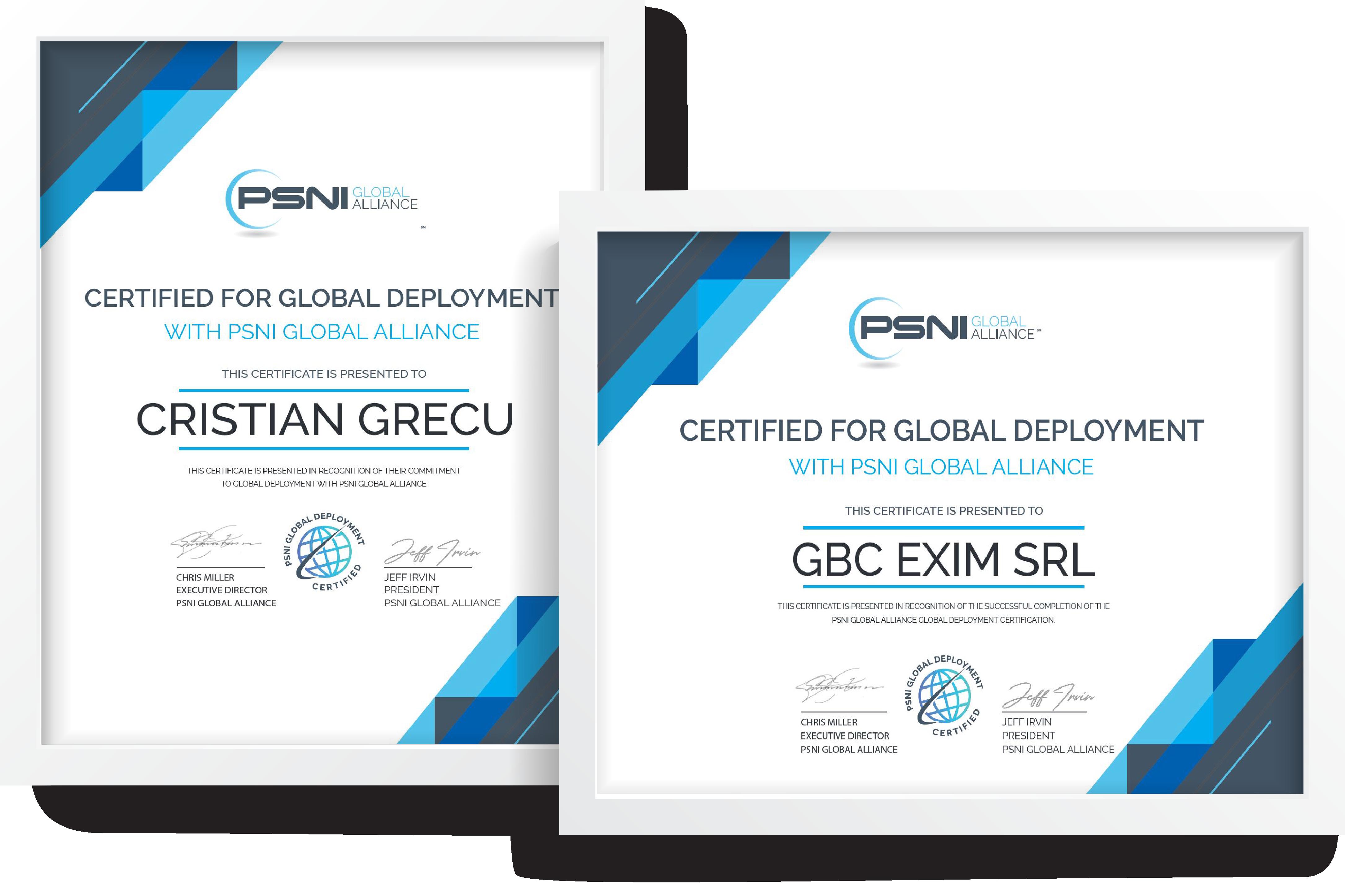 cristian grecu integrator psni certificat