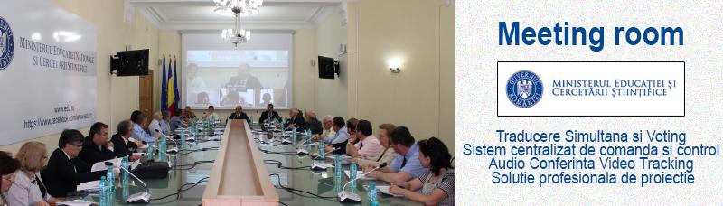 Implementarea solutiilor de videoconferinta la ministerul educatiei