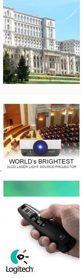 solutii videoproiectie parlament